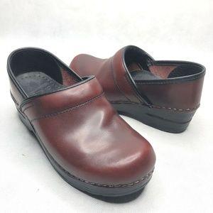 Dansko Clog Red Slip On Comfort Professional Shoes